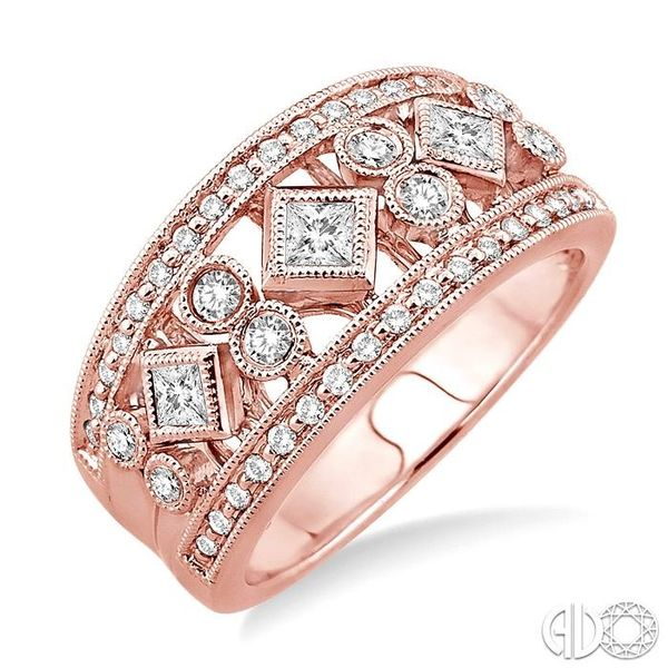 5/8 Ctw Diamond Fashion Ring in 14K Rose Gold Grogan Jewelers Florence, AL