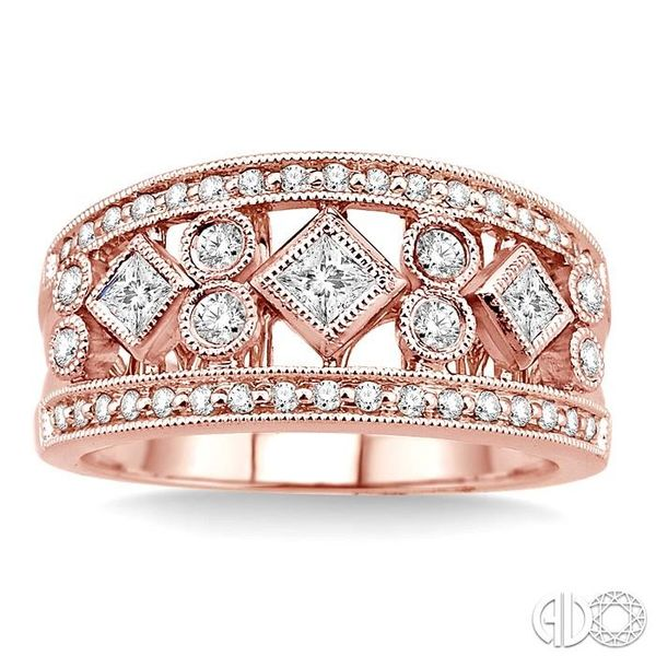 5/8 Ctw Diamond Fashion Ring in 14K Rose Gold Image 2 Grogan Jewelers Florence, AL