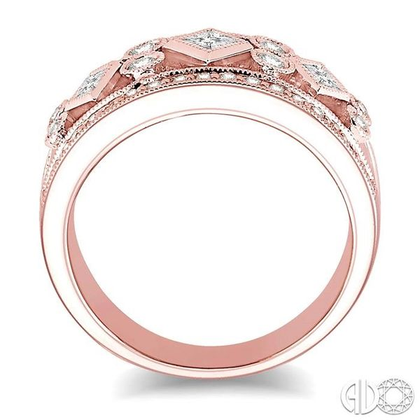 5/8 Ctw Diamond Fashion Ring in 14K Rose Gold Image 3 Grogan Jewelers Florence, AL