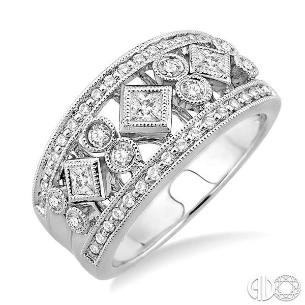 5/8 Ctw Diamond Fashion Ring in 14K White Gold Grogan Jewelers Florence, AL