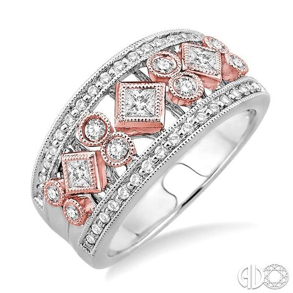 5/8 Ctw Diamond Fashion Ring in 14K White and Rose Gold Grogan Jewelers Florence, AL