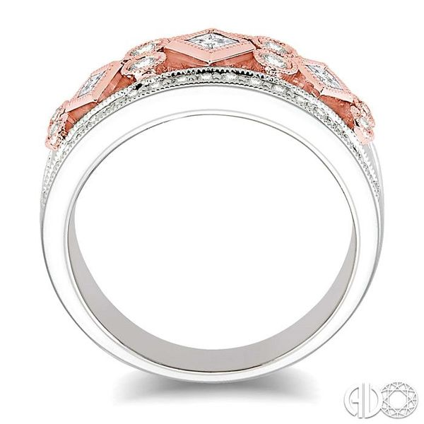 5/8 Ctw Diamond Fashion Ring in 14K White and Rose Gold Image 3 Grogan Jewelers Florence, AL