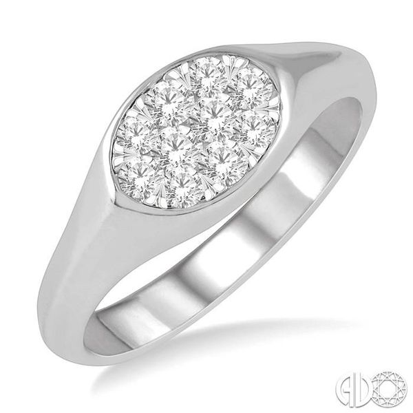 1/3 ctw Oval Shape Lovebright Diamond Ring in 14K White Gold Grogan Jewelers Florence, AL