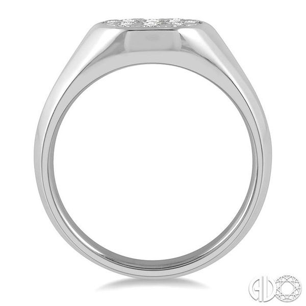 1/3 ctw Oval Shape Lovebright Diamond Ring in 14K White Gold Image 3 Grogan Jewelers Florence, AL