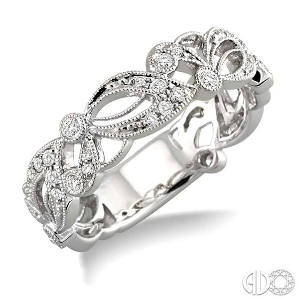 1/5 Ctw Diamond Fashion Ring in 14K White Gold Grogan Jewelers Florence, AL