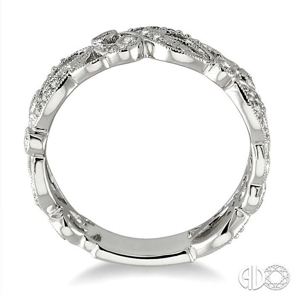 1/5 Ctw Diamond Fashion Ring in 14K White Gold Image 3 Grogan Jewelers Florence, AL