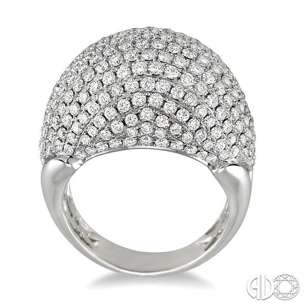 3 Ctw Dome Shape Round Cut Diamond Ring in 18K White Gold Image 3 Grogan Jewelers Florence, AL