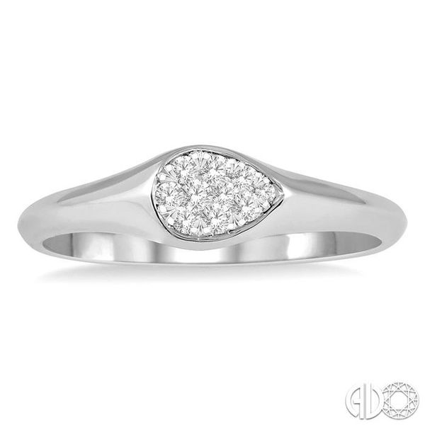 1/10 ctw Pear Shape Lovebright Diamond Ring in 14K White Gold Image 2 Grogan Jewelers Florence, AL