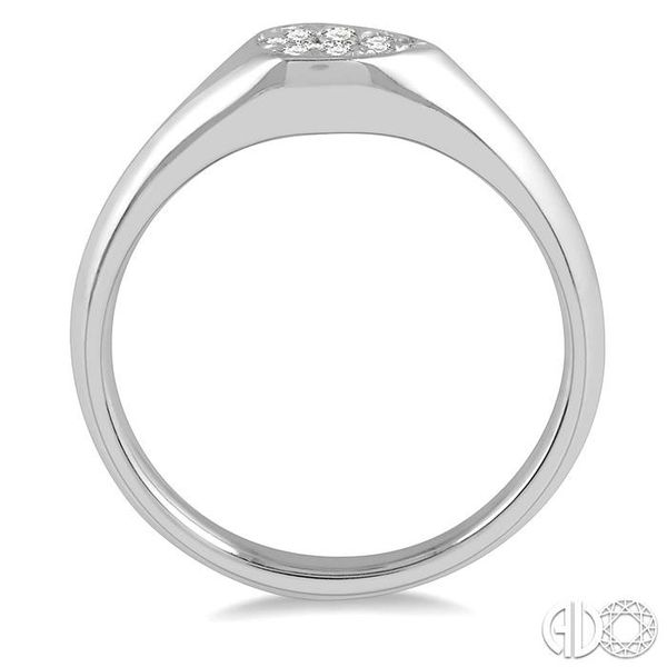 1/10 ctw Pear Shape Lovebright Diamond Ring in 14K White Gold Image 3 Grogan Jewelers Florence, AL