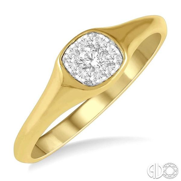 1/3 ctw Cushion Shape Lovebright Diamond Ring in 14K Yellow and White Gold Grogan Jewelers Florence, AL