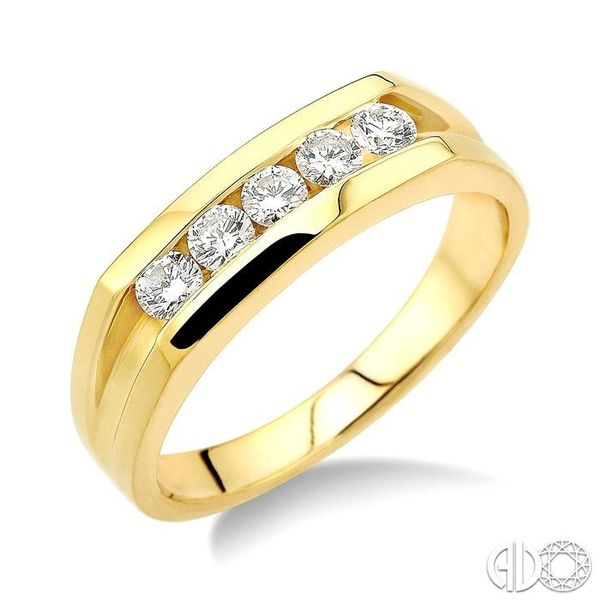 1/2 Ctw Round Cut Men's Diamond Ring in 14K Yellow Gold Grogan Jewelers Florence, AL
