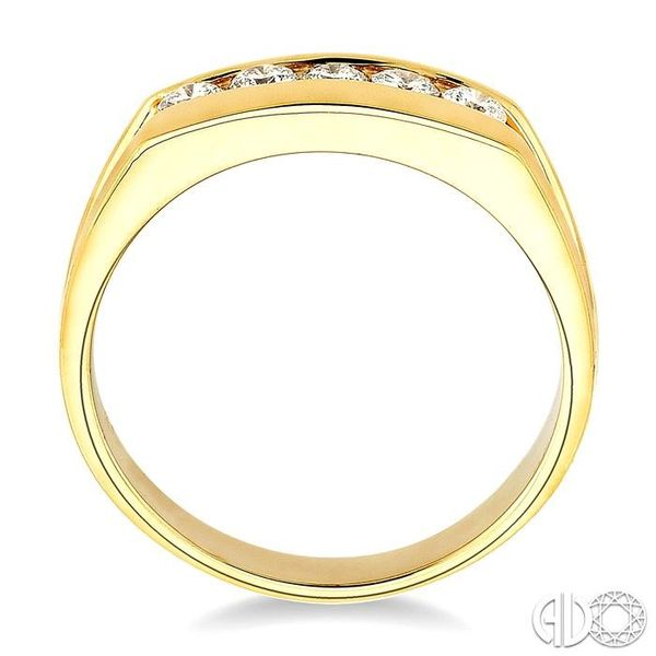1/2 Ctw Round Cut Men's Diamond Ring in 14K Yellow Gold Image 3 Grogan Jewelers Florence, AL