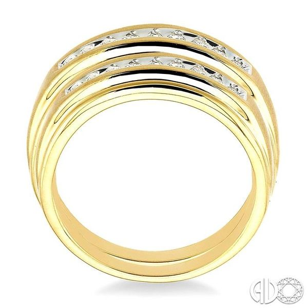 1/3 Ctw Round Cut Diamond Duos Ring Set in 14K Yellow Gold Image 3 Grogan Jewelers Florence, AL