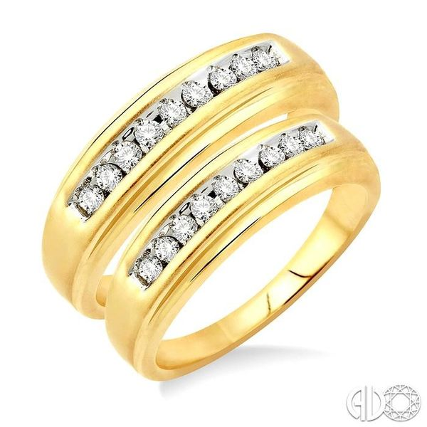 1/3 Ctw Round Cut Diamond Duos Ring Set in 10K Yellow Gold Grogan Jewelers Florence, AL