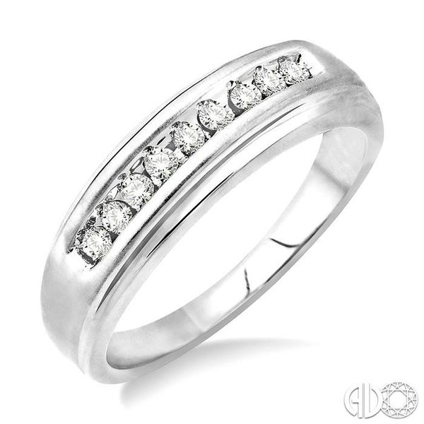 1/6 Ctw Round Diamond Ladies Duo Ring in 14K White Gold Grogan Jewelers Florence, AL