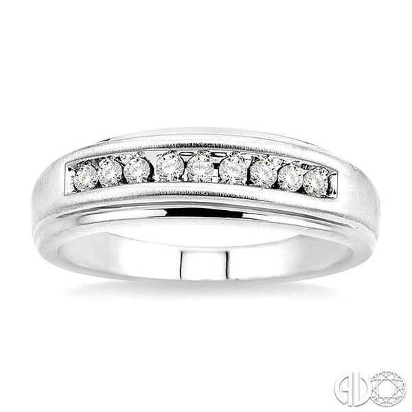 1/6 Ctw Round Diamond Ladies Duo Ring in 14K White Gold Image 2 Grogan Jewelers Florence, AL