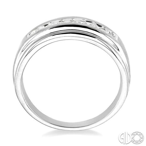 1/6 Ctw Round Diamond Ladies Duo Ring in 14K White Gold Image 3 Grogan Jewelers Florence, AL