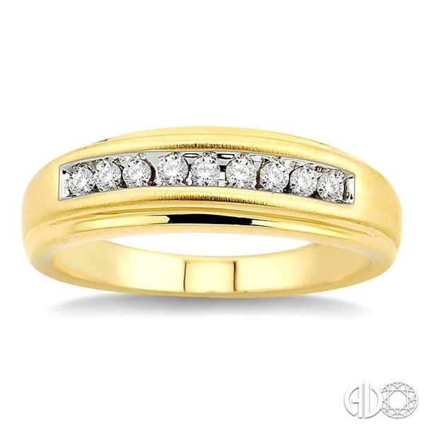 1/6 Ctw Round Diamond Ladies Duo Ring in 14K Yellow Gold Image 2 Grogan Jewelers Florence, AL