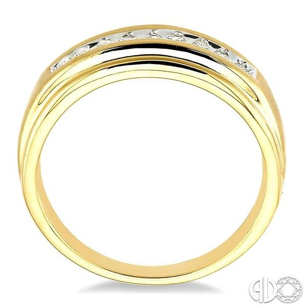 1/6 Ctw Round Diamond Ladies Duo Ring in 14K Yellow Gold Image 3 Grogan Jewelers Florence, AL