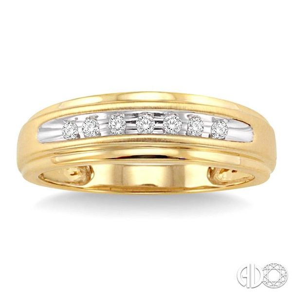 1/20 Ctw Round Cut Diamond Ladies Duo Ring in 14K Yellow Gold Image 2 Grogan Jewelers Florence, AL