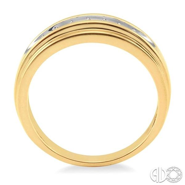 1/20 Ctw Round Cut Diamond Ladies Duo Ring in 14K Yellow Gold Image 3 Grogan Jewelers Florence, AL