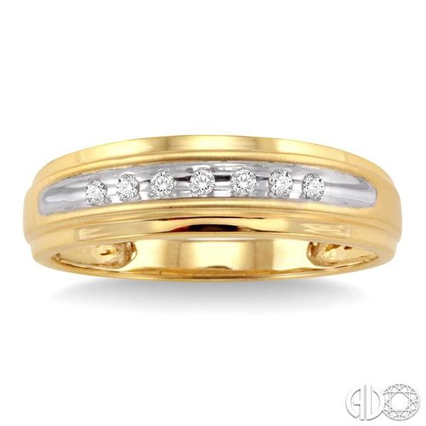 1/20 Ctw Round Cut Diamond Men's Duo Ring in 14K Yellow Gold Image 2 Grogan Jewelers Florence, AL