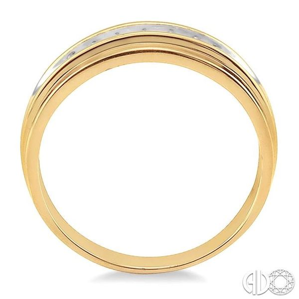 1/20 Ctw Round Cut Diamond Men's Duo Ring in 14K Yellow Gold Image 3 Grogan Jewelers Florence, AL