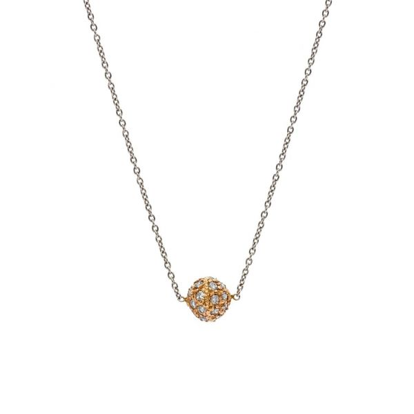 The Disco Necklace with White Diamonds in Rose Gold Grogan Jewelers Florence, AL