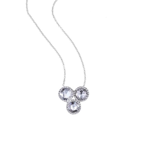 The Grace Necklace with White Diamonds in White Gold Grogan Jewelers Florence, AL