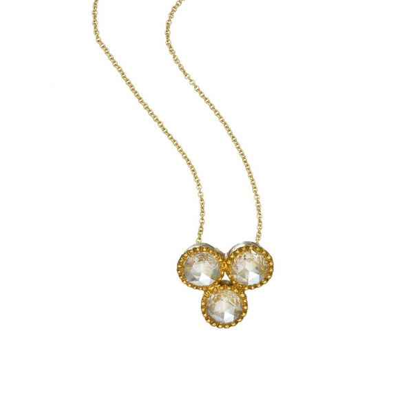 The Grace Necklace with White Diamonds in Yellow Gold Grogan Jewelers Florence, AL