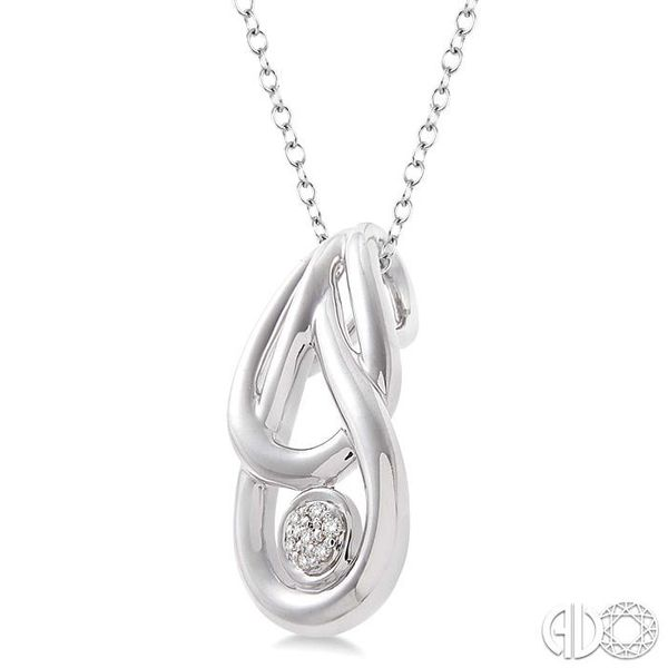 1/50 Ctw Single Cut Diamond Infinity Pendant in Sterling Silver with Chain Image 2 Grogan Jewelers Florence, AL