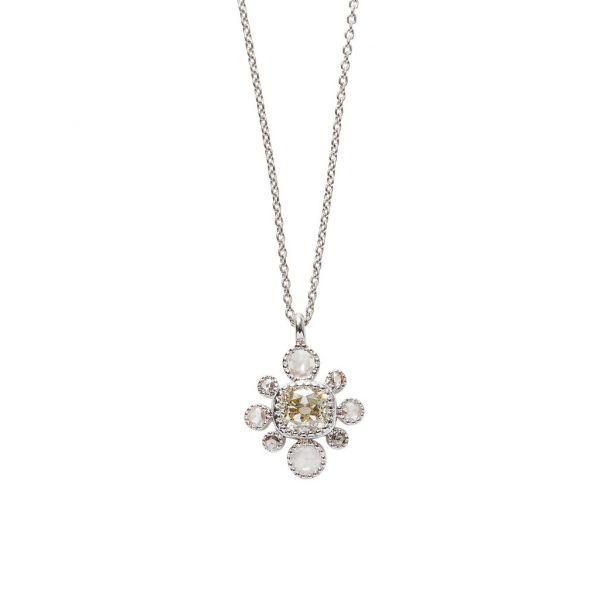 The Belle Necklace in White Gold Grogan Jewelers Florence, AL