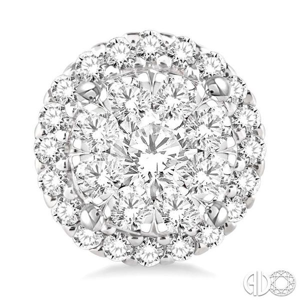 2 Ctw Lovebright Round Cut Diamond Earrings in 14K White Gold Image 2 Grogan Jewelers Florence, AL