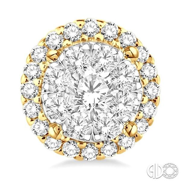 2 Ctw Lovebright Round Cut Diamond Earrings in 14K Yellow Gold Image 2 Grogan Jewelers Florence, AL