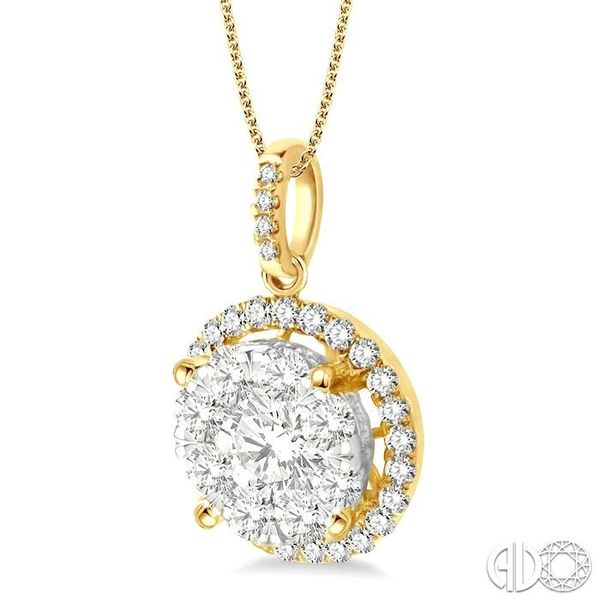 2 Ctw Lovebright Round Cut Diamond Pendant in 14K Yellow Gold with Chain Image 2 Grogan Jewelers Florence, AL