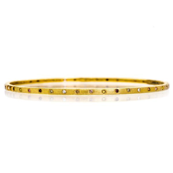 The Dunes Bangle in Yellow Gold Grogan Jewelers Florence, AL