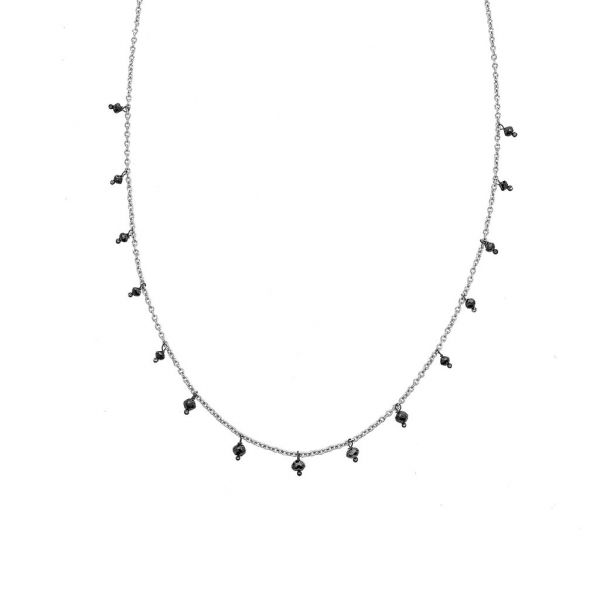 The Adeline Necklace with Black Diamonds in White Gold Grogan Jewelers Florence, AL