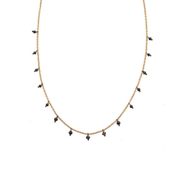 The Adeline Necklace with Black Diamonds in Rose Gold Grogan Jewelers Florence, AL