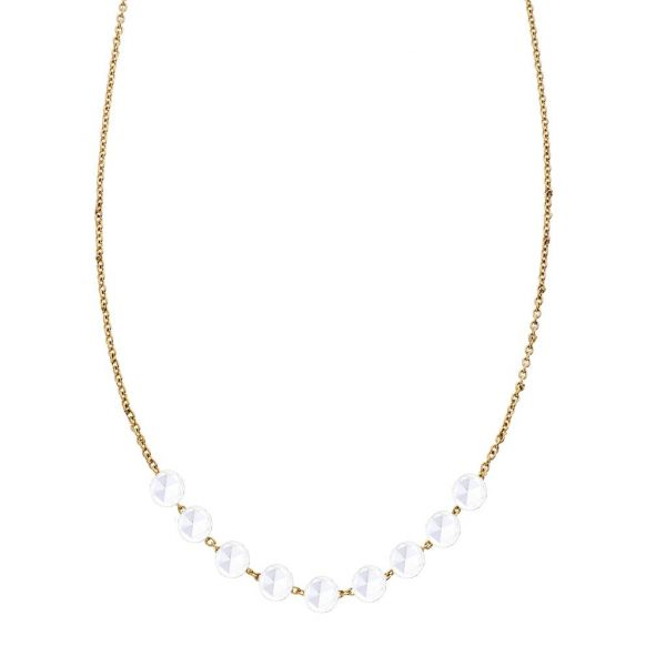 The Cien 9 Stone Necklace in Yellow Gold Grogan Jewelers Florence, AL