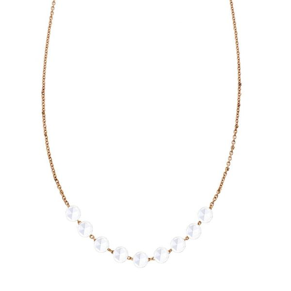The Cien 9 Stone Necklace in Rose Gold Grogan Jewelers Florence, AL
