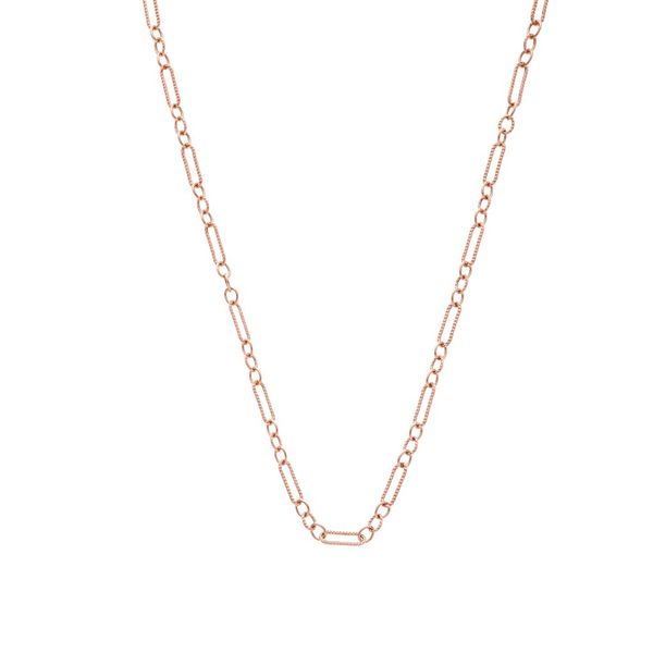 "The Figaro Chain in Rose Gold, 20"" Grogan Jewelers Florence, AL"