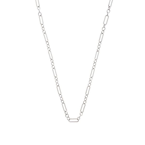 "The Figaro Chain in White Gold, 20"" Grogan Jewelers Florence, AL"