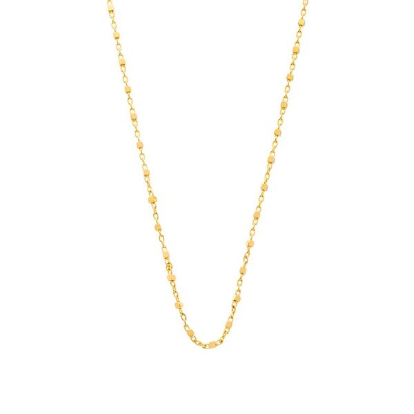 "The Cube Chain in Yellow Gold, 18"" Grogan Jewelers Florence, AL"