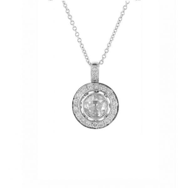 The Angelica Necklace with White Diamonds in White Gold Grogan Jewelers Florence, AL