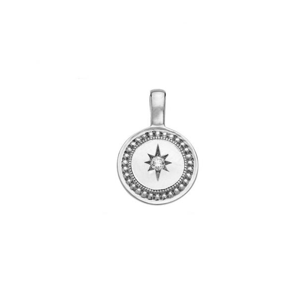 The P.S. Celeste Round Small Charm in White Gold Grogan Jewelers Florence, AL