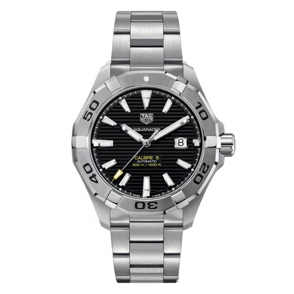 TAG Heuer Aquaracer 43mm Stainless Steel Automatic Watch Grogan Jewelers Florence, AL