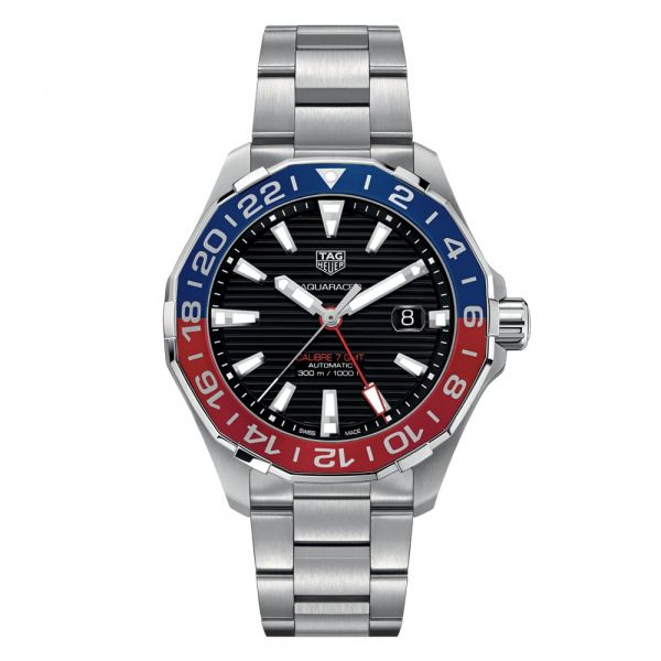 TAG Heuer Aquaracer GMT 43mm Stainless Steel Watch Grogan Jewelers Florence, AL