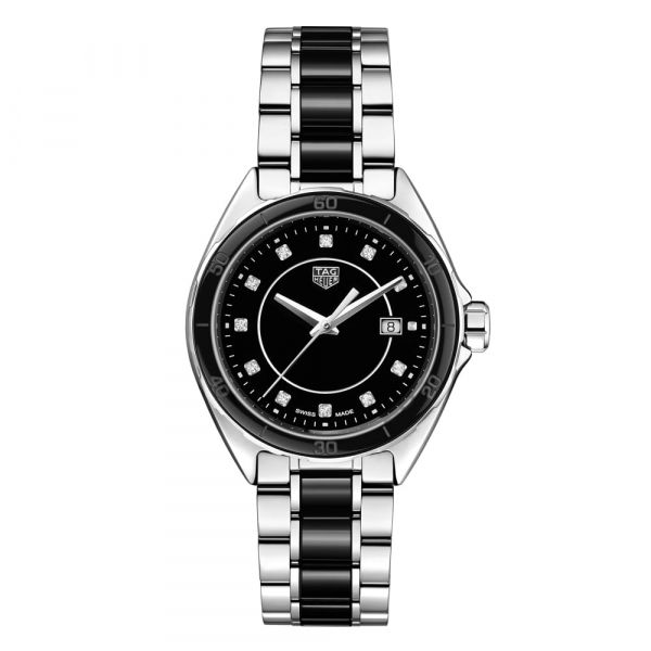 TAG Heuer Formula 1 Stainless Steel and Black Ceramic Diamond Watch Grogan Jewelers Florence, AL