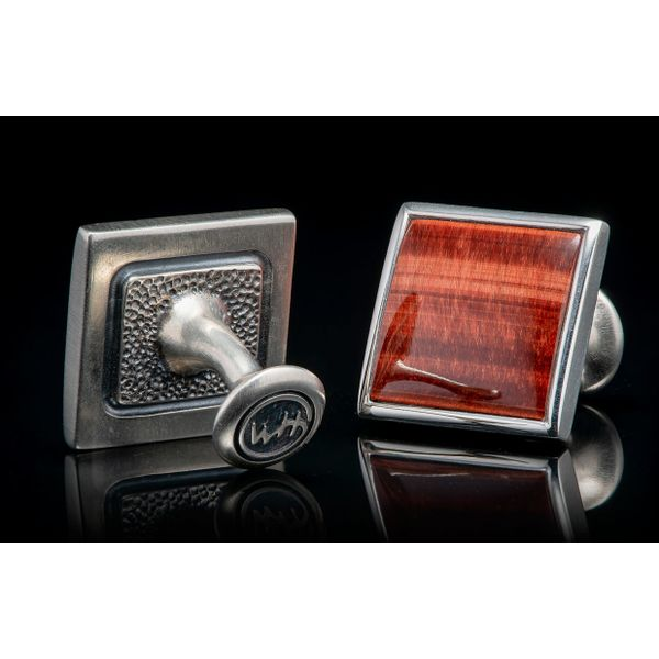 Red Tiger Eye Duo Cufflinks Image 2 Grogan Jewelers Florence, AL