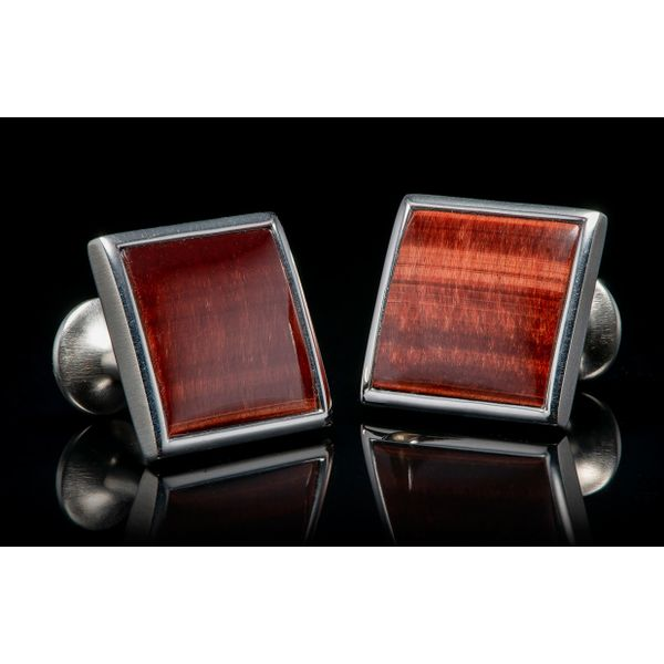 Red Tiger Eye Duo Cufflinks Grogan Jewelers Florence, AL